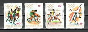 Senegal, Scott cat. 365-368. Munich Olympics issue.