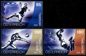 HERRICKSTAMP NEW ISSUES AUSTRIA Sports - Handball, Basketball, Volleyball