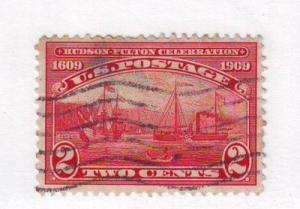 United States Sc372 1909 2 c Hudson-Fulton stamp used