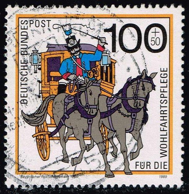 Germany #B684 Bavarian Mail Coach; Used (2.50)