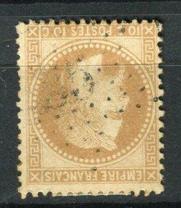 FRANCE; 1863 classic Napoleon Perf used Shade of 10c. value, Etoile 25