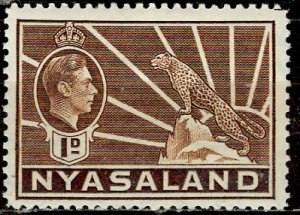 Nyasaland; 1938: Sc. # 55: *+/MLH Single Stamp