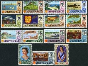 Jersey 7-21,MNH.QE II,Castle,La Hougue Bie,Portelet Bay,Mont Orgueil,Arms,1969