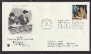 US GI Bill 1999 PCS Typed FDC BIN