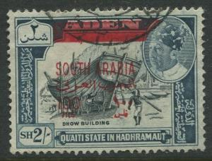 STAMP STATION PERTH South Arabia Scott 62 Overprint Issue  FU  CV$