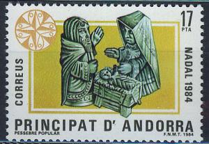 ANDORRA SPANISH 1984 MNH SC.166 Christmas