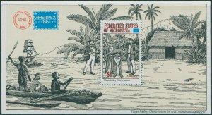 Micronesia 1986 SG60 Ameripex Stamp Exhibition MS MNH