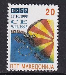 Macedonia #62C  MNH  1995   admission council of europe