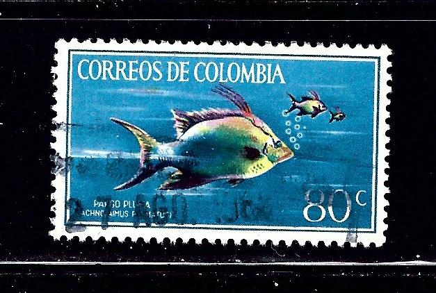 Colombia 760 Used 1966 Fish
