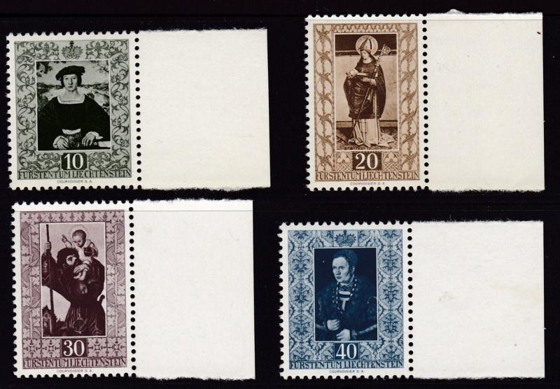 Liechtenstein 1953 Paintings ART Complete (4)   VF/NH