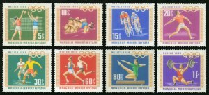Mongolia 1968 MNH Stamps Scott 496-503 Sport Summer Olympic Games