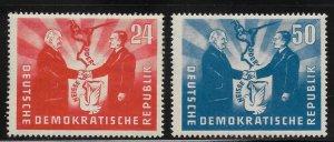 Germany DDR - Scott #80-81 - F - VF - Mint Never Hinged (NH)
