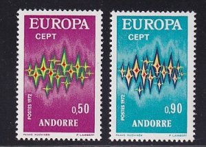 Andorra French  #210-211  MNH  1972       Europa