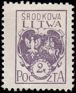 Central Lithuania 5 Coat of Arms MH