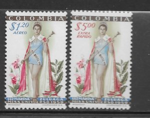 Colombia C317-8 MNH set, vf,see desc. 2020 CV $46.75