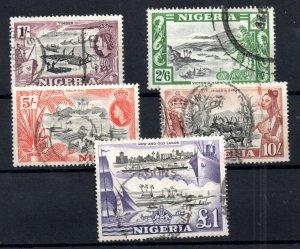 Nigeria QEII 1953 high values fine used SG76-80 WS15925