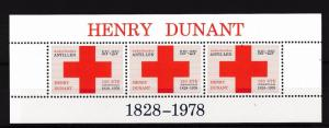 [NA592] Netherlands Antilles Antillen 1978 Red Cross Souvenir Sheet MNH