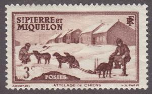 St. Pierre & Miquelon 173 Dog Team 1938