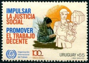 HERRICKSTAMP NEW ISSUES URUGUAY Int'l Labor Organization