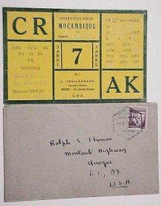 MOZAMBIQUE XINAVANE 14 APRIL 1938 B/S LOURENCO  MARQUES TO USA