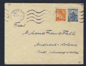 67974- CZECHOSLOVAKIA 1941 - CIRCULATED COVER