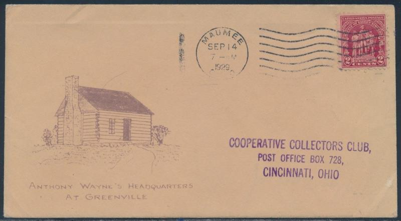 #680 ON BEAZELL FDC ANTHONY WAYNE'S HEADQUARTERS MAUMEE, OH CANCEL BS2589