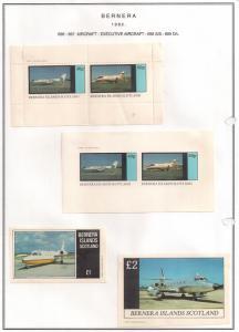 SCOTLAND - BERNERA - 1982 - Exec. Aircraft - 2v Perf,Imp, Min, D/L Sheets - MLH