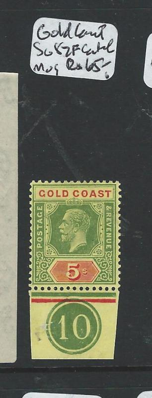 GOLD COAST   (P2407B) KGV 5/-  SG 82F CONTROL SINGLE MOG