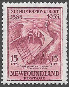 Newfoundland Scott Number 222 VF H