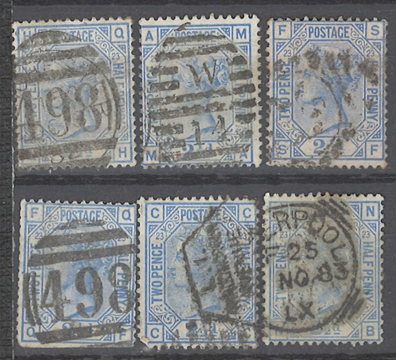 COLLECTION LOT # 2240 GREAT BRITAIN #82p23 X 6 MAY HAVE MINOR FAULT 1880 CV+$195