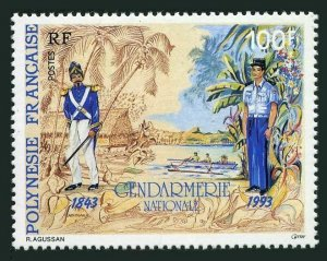 Fr Polynesia 627,MNH.Michel 643. French Gendarme in Tahiti,150th Ann.1993.