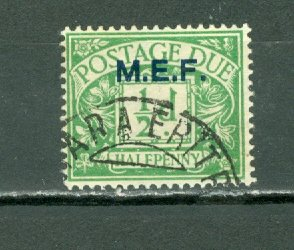 GREAT BRITAIN OFFICES in AFRICA(ERITREA) #J1... NICE CANCELLATION...$14.00