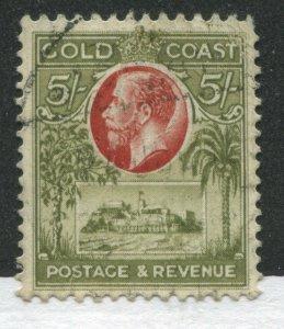 Gold Coast KGV 1928 5/ used