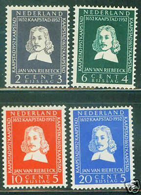 Netherlands Scott B234-7 complete MH* 1952 set CV$27
