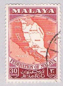 Malaya Federation 83 Used Map of federation (BP22919)