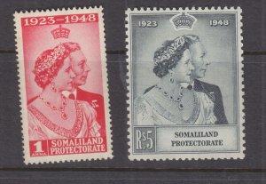 SOMALILAND PROT., 1948 Silver Wedding pair, mnh.