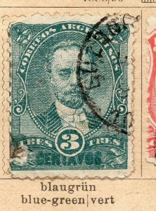 Argentina 1888-90 Early Issue Fine Used 3c. NW-11772