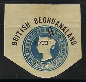 BRITISH BECHUANALAND SQUARE CUT Z8-14