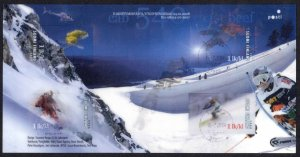 Finland Sc# 1305 Used Miniature Sheet 2008 Snow Sports