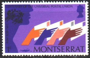 Montserrat. 1974. 305 from the series. 100 years of UPU. MNH.
