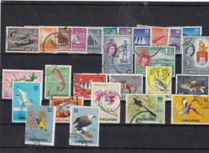 singapore used  stamps Ref 9443