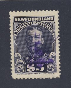 Newfoundland Revenue Stamp #NFR21-$5.00 Perf 11 Used Guide Value= $75.00