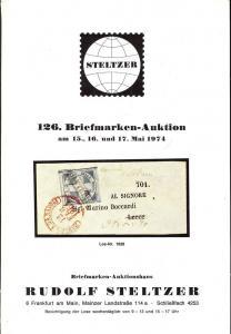 Steltzer: Sale # 126  -  126. Briefmarken-Auktion, Steltz...