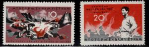 Viet Nam , Viet Cong Michel 9-10 NGAI stamp set Not on porous paper