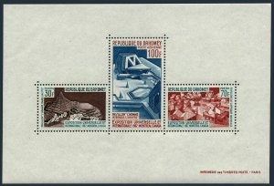 Dahomey C57a sheet,MNH.Mi Bl.7. EXPO-1967,Pavilions:Man in City,Man in space,