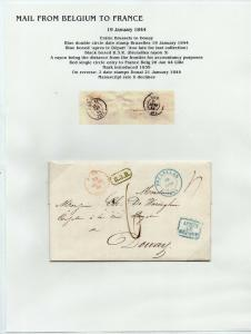 FRANCE Early Incoming LETTER/COVER 1844 fine used item Brussels - Douay