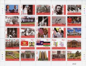 Kenya 2013 MNH Independence 50th Ann 25v M/S II Politicians Architecture Stamps