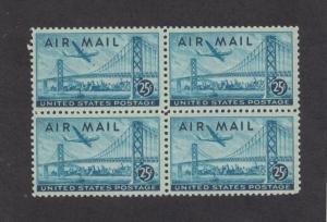 Scott C36 - Oakland Bay Bridge. Airmail. MNH.OG. Block of 4 .     #02 C36
