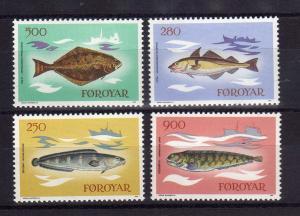 FEROE/FAROE 1983 MNH SC.97/100 Fish