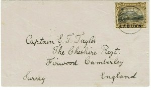 Labuan 1894 cover to England, SG 71, 900 pounds